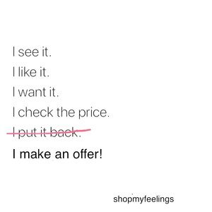 Other - I ❤️ offers! You should make one.